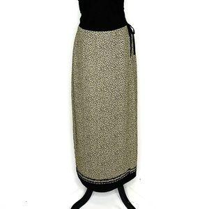 Liz Claiborne animal print wrap maxi skirt